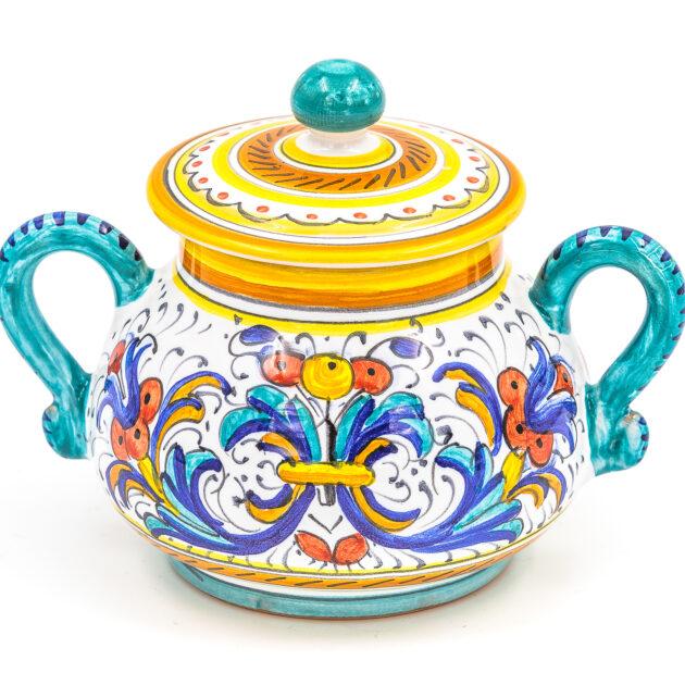 Ceramiche D/'Arte Ravello Italy Pasta Bowls Versace Design Monocromia Green Bottle